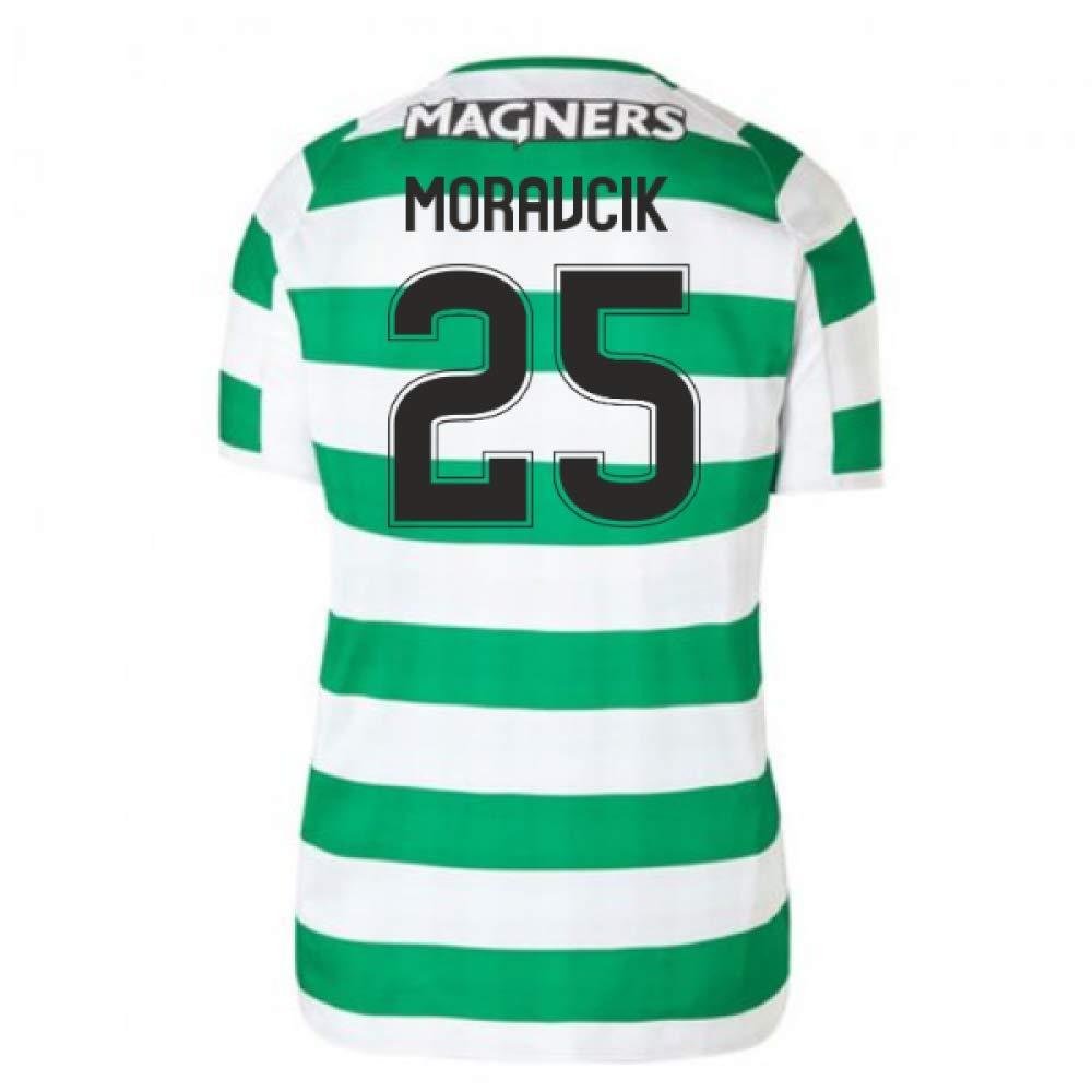 2018-2019 Celtic Home Ladies Football Soccer T-Shirt Trikot (Lubo Moravcik 25)