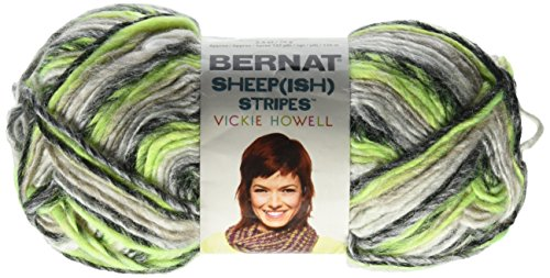 (Spinrite Sheep(ish) Stripes Yarn by Vickie Howell, Green Neon(ish))