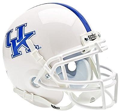 Kentucky Wildcats Mini XP Authentic Helmet Schutt - White - NCAA College Football Licensed - Kentucky Wildcats Collectibles
