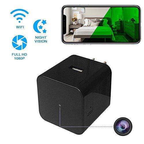 Premium seguridad en el hogar cámara oculta con visión nocturna-vídeo HD de 1080p-Mando a distancia WiFi View App...