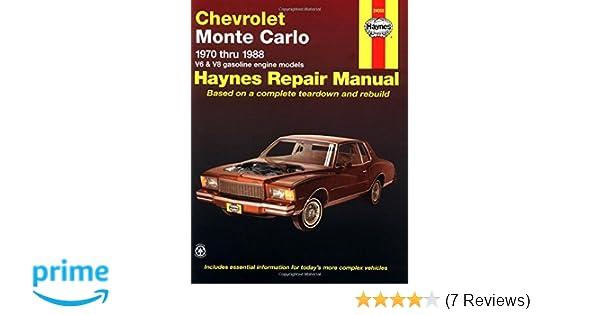 Chevrolet monte carlo 7088 haynes repair manuals haynes chevrolet monte carlo 7088 haynes repair manuals haynes 0038345006265 amazon books fandeluxe Gallery