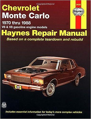 Chevrolet monte carlo 7088 haynes repair manuals haynes chevrolet monte carlo 7088 haynes repair manuals 1st edition fandeluxe Gallery