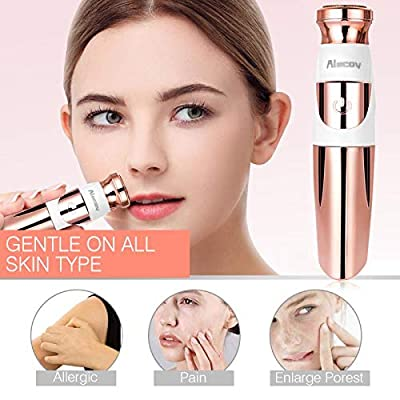 Lilizhou Women's Facial Hair Remover for Face Lip Armpit Chin Cheek Arm Leg and Full Body, Electric Hair Removal with Clean Brush