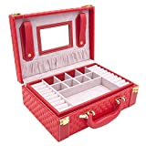 MISYLPH Multifunctional Two-Layer Woven Leather Jewelry Box Organizer - Best Reviews Guide