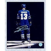 Mats Sundin Toronto Maple Leafs Autographed Reverse Intro Spotlight 11x14 Photo