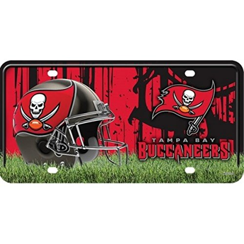 Tampa Bay Buccaneers NEW LOGO 2102 Metal Tag License Plate NFL Football Logo License Plate Nfl Football