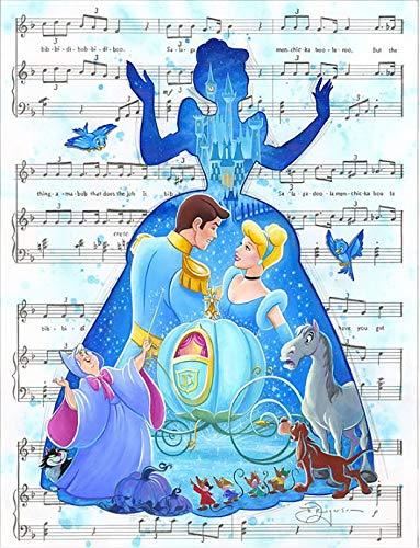 (Disney Cinderella Iron On Transfer for T-Shirts & Other Light Color Fabrics #2)