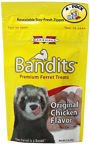 Marshall Bandits Ferret Treat, 3-Ounce, Chicken (Pack of - Chicken Treats Ferret