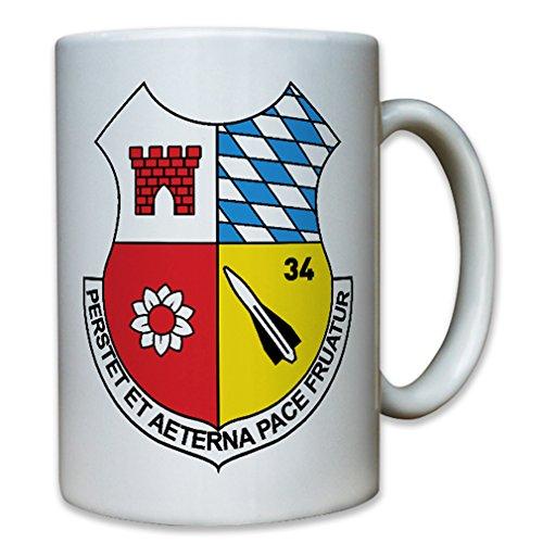 FlaRak Btl 34 Hawk Bundeswehr air defense missile Germany military badge unit emblem coat of arms - Coffee Cup Mug