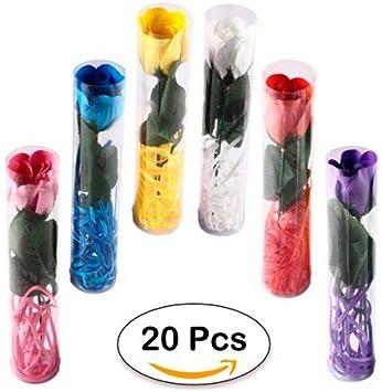 Lote 20 Flores Rosas de Pétalos de Jabón en Caja de Regalo ...