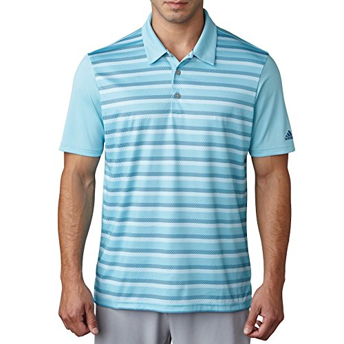 adidas Golf Men's Climacool Competition Polo, Light Aqua, Medium ()