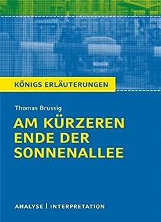 Interpretationen Deutsch Brussig Am Kurzeren Ende Der Sonnenallee
