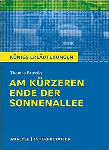 Am Kürzeren Ende Der Sonnenallee Textanalyse Und Interpretation Zu