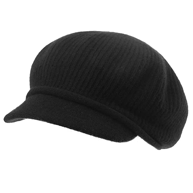 69b58541072 SIGGI Womens Newsboy Cap Wool Winter Hat Ladies Beret Hat Visor Cloche Hats  Lined Black