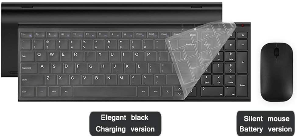 OFNMD Charging Version Wireless Mouse Keyboard Set Laptop Game Ultra-Thin Silent Portable Tablet Smart TV Set Top Box Color : Ivory White Set