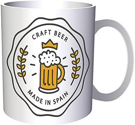 Hecho en España Cervecería Cerveza Arte de la vendimia 330 ml taza d683: Amazon.es: Hogar