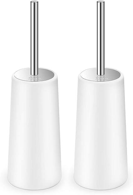 New Parisi Lhotel Toilet Brush Holder Silver 400Mm H X 90Mm D X 80Mm W