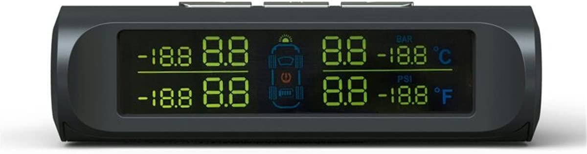 2 GGGarden Solar LCD Display TPMS Tire Pressure Temperature Monitor System Four Sensor