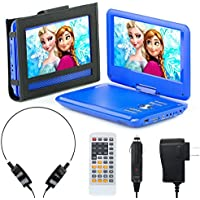 Portable DVD Player for Car, Plane & more - 7 Car & Travel Accessories Included ($35 Value) - 9 Swivel Screen - Whopping 6 Hour Battery Life - Perfect Portable DVD Player for Kids