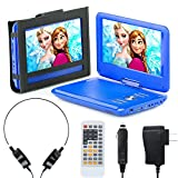 Portable DVD Player for Car, Plane & More - 7 Car & Travel Accessories Included ($35 Value) - 9' Swivel Screen - Whopping 6 Hour Battery Life - Perfect Portable DVD Player for Kids