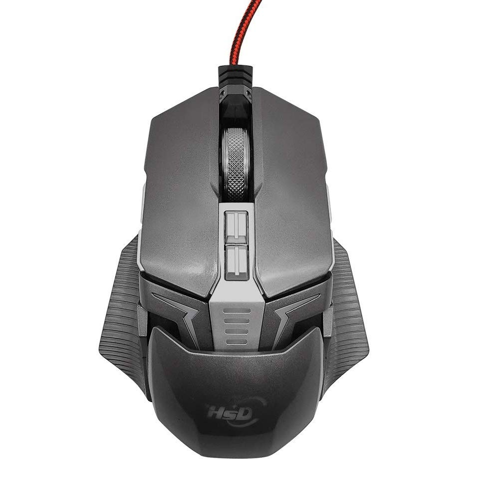 Mouse Gamer : E-Sports Con cable ,4 Ajustable DPI ,7 Color C