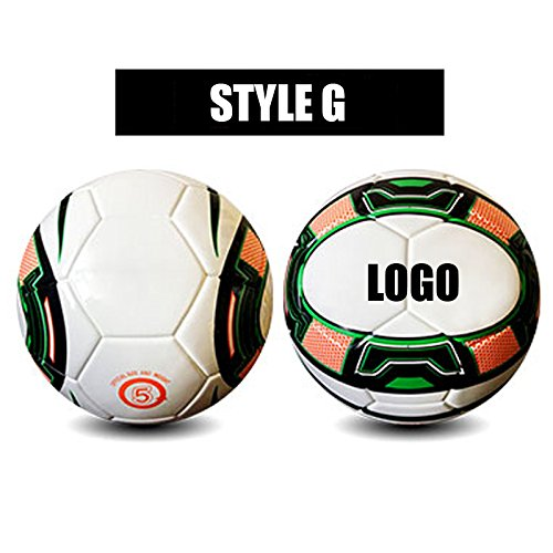 Free Personalization | custom-print PU Football |一意のフットボール|大人Teenagers子供用|トレーニングCompetition Size 5 B076SFCH7YG Size 5