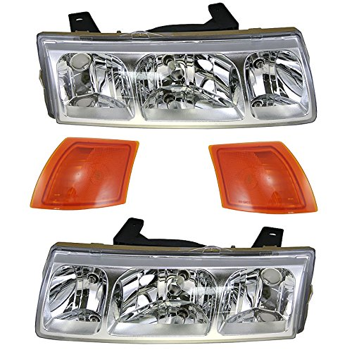 - Headlight Lamp Parking Marker Corner Light LH RH 4 Piece Kit for 05 Saturn Vue