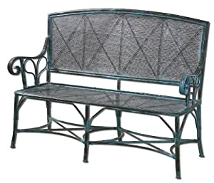 Uttermost Generosa Iron Bench In Oxidized Black Undertones