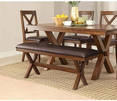 6 /& 7 Pc Dining Sets Wood Farmhouse Maddox Tables Chairs Benches Room Kitchen 5