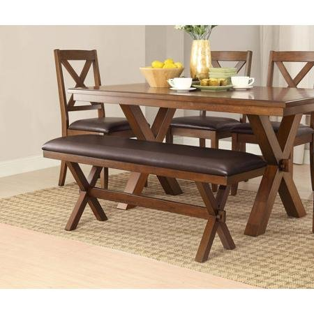 (Adjustable Better Homes and Comfortable Gardens Maddox Crossing Dining Perfect Bench, Espresso Discount Low Wooden Legs Furniture Space Design Affordable Cushion Additional Seating Relax and Enjoy Kitchen)