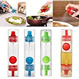 2 Way Cooking Bottle Spray Oil Sauce Vinegar Dispenser (Multicolor)