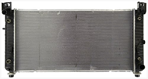 Radiator - Fits 2012-2008 Chevrolet Tahoe (6.0L V8 5967cc 364 CID; Hybrid; With 34 inch Core, With Engine Oil Cooler And Transmission Oil Cooler)