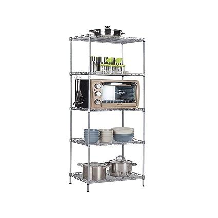 Amazon.com: Storage Racks,5-Tier Carbon Steel Kitchen ...