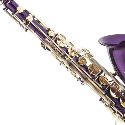 Cecilio TS-280PL 2Series Tenor Bb Saxophone with Mouthpiece, Case, 10 Reeds, and Accessories - Purple Lacquer by Cecilio (Image #4)