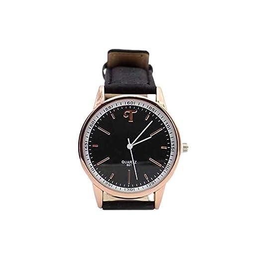 Reloj de Corcho Natural, Reloj Blanco y Negro con Correa de Corcho Negro, Hecho