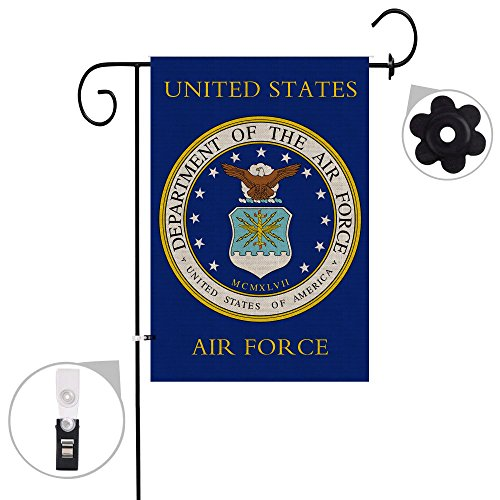 Bonsai Tree Burlap us Air Force Spring Garden Flags 12x18 Prime Double-Sided Yard Outdoor Decorative Flag Banner Stopper & Anti-Wind Clip…