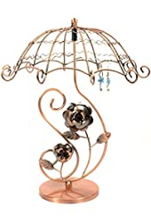 Bejeweled Display® Vintage Style Copper Tone Umbrella Rose Earring Tree~ Jewelry Display