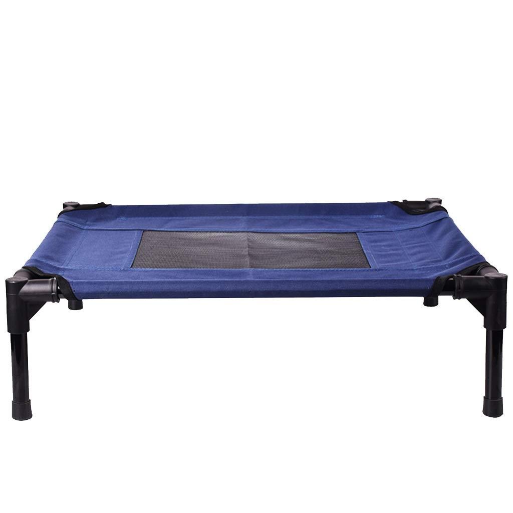 ペットの巣取り外し可能および洗える高架ペット用ベッド (Color : 青, Size : M) 青 Medium