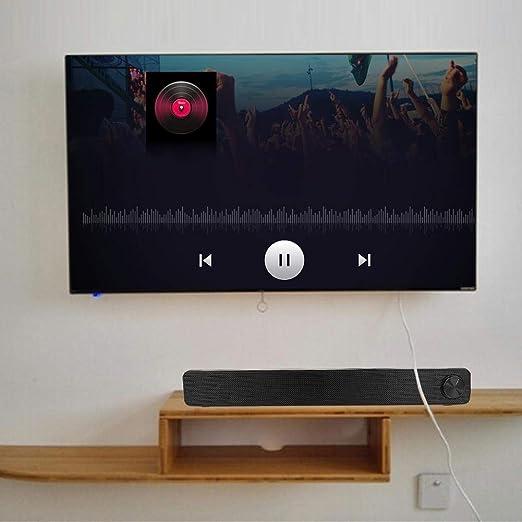 Plyisty Sonido Envolvente estéreo 3D Diseño de Perilla Grande Toma de Audio común de 3,5 mm Fuente de alimentación USB de 3 W Altavoz de computadora, Altavoz, para Cine en casa: Amazon.es: