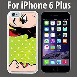 Gossiping Women Comic Book Style Custom Case/ Cover/Skin *NEW* Case for Apple iPhone 6 PLUS - White - Rubber Case (Ships from CA) Custom Protective Case , Design Case-ATT Verizon T-mobile Sprint ,Friendly Packaging - Slim Case