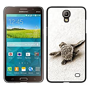 Samsung Galaxy Mega 2 / SM-G750F / G7508 Único Patrón Plástico Duro Fundas Cover Cubre Hard Case Cover - Turtle Baby Cute Sand Sea Animal Marine