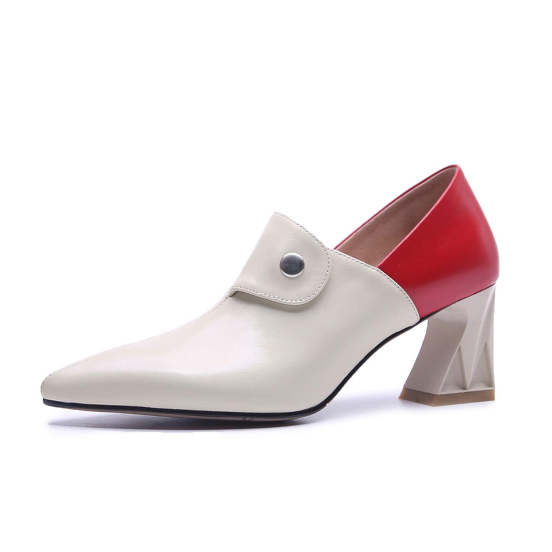White 6cm meiguiyuan Women Summer high Heels Platform Sexy Genuine Leather Pumps Spring Heels shoes 2019