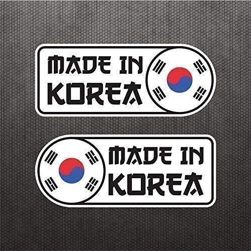 Made In Korean Sticker Set Vinyl Decal Badge For Swedish Car SUV Quarter Panel Emblem Fits Hyundai Genesis Coupe Kia