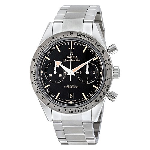 Omega Speedmaster Day Date (Omega Speedmaster 57 Chronograph Automatic Black Dial Stainless Steel Mens Watch 33110425101002)