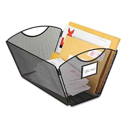 Safco 2163BL Onyx Mesh Desktop Tub File Storage Box Legal Black