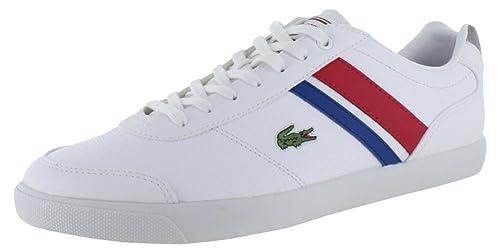 Lacoste COMBA Tenis Zapatillas Deportivas Zapatos de Piel para Hombre Retro: Amazon.es: Zapatos y complementos