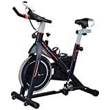 Soozier Upright Stationary Exercise Bike Indoor Cycling Bicycle Cardio Workout Trainer w/LCD Monitor