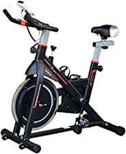 Soozier Upright Stationary Exercise Bike Indoor Cardio Workout Training Bicycle w/Adjustable Resistance LCD Mo