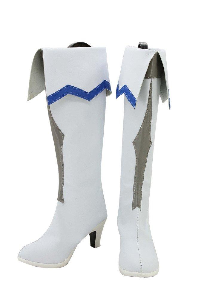 GGO Sword Art Online Anime Asuna Yuuki Cosplay Shoes White Boots Custom Made Female size 6