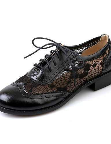 5 Trabajo Marrón Redonda 5 y Oxfords Semicuero ZQ brown Oficina Negro eu42 Tacón Punta brown us7 Vestido uk8 Robusto cn43 us10 Casual brown 5 us10 Almendra 5 cn38 uk5 de 5 Zapatos 2016 mujer eu38 0Papq